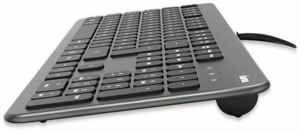 USB-Tastatur HAMA KC-700, Slim-Design, Scissor-Tasten, anthrazit/schwarz - Produktbild 3