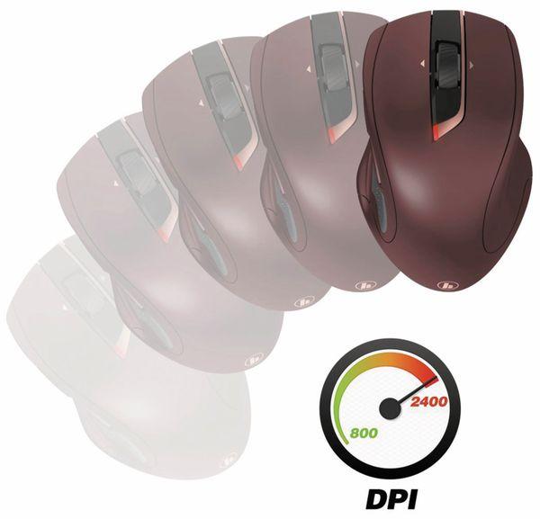 7-Tasten-Laserfunkmaus HAMA MW-800, Auto-dpi, bordeaux - Produktbild 3