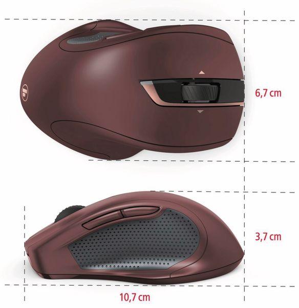 7-Tasten-Laserfunkmaus HAMA MW-800, Auto-dpi, bordeaux - Produktbild 4