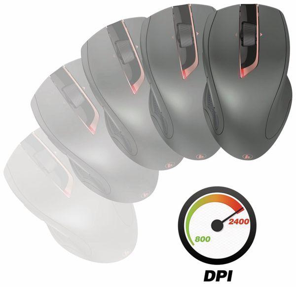 7-Tasten-Laserfunkmaus HAMA MW-900, Auto-dpi, schwarz - Produktbild 3