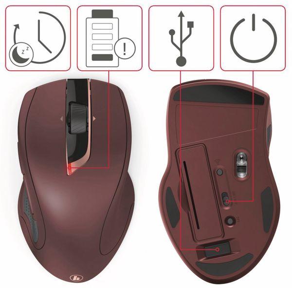 7-Tasten-Laserfunkmaus HAMA MW-900, Auto-dpi, schwarz - Produktbild 5