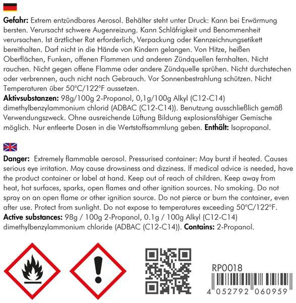 Desinfektionsspray LOGILINK RP0018, 200 ml - Produktbild 3