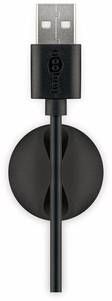 Kabel Management GOOBAY 1 Slot Mini, 5er-Set, schwarz - Produktbild 6