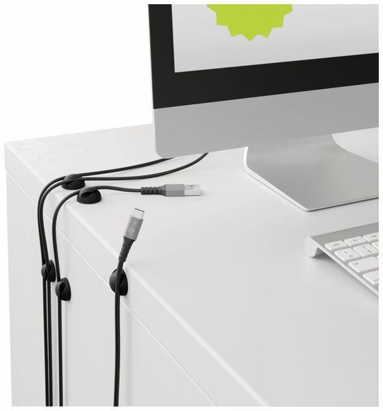 Kabel Management GOOBAY 2 Slots Mini, 6er-Set, schwarz - Produktbild 2