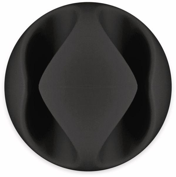 Kabel Management GOOBAY 2 Slots Mini, 6er-Set, schwarz - Produktbild 7
