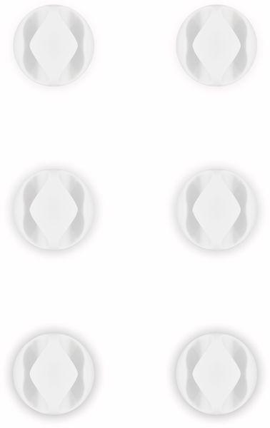 Kabel Management GOOBAY 2 Slots Mini, 6er-Set, weiß