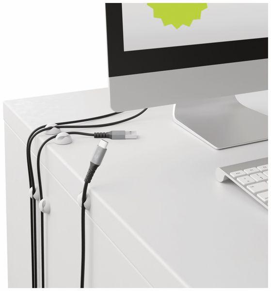 Kabel Management GOOBAY 2 Slots Mini, 6er-Set, weiß - Produktbild 3
