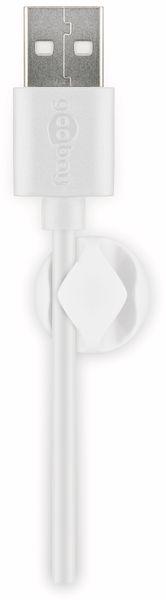 Kabel Management GOOBAY 2 Slots Mini, 6er-Set, weiß - Produktbild 4