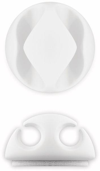 Kabel Management GOOBAY 2 Slots Mini, 6er-Set, weiß - Produktbild 8