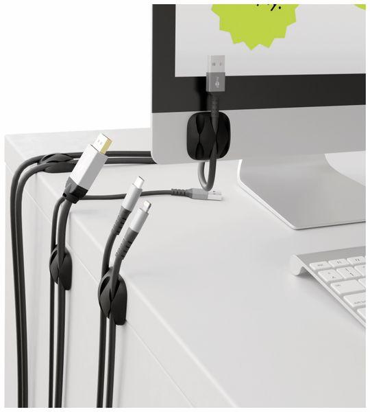 Kabel Management GOOBAY 3 Slots, schwarz, 4er-Set - Produktbild 2
