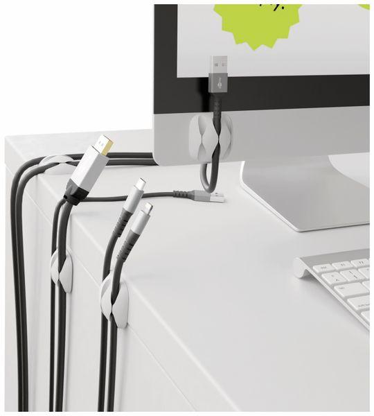 Kabel Management GOOBAY 3 Slots, weiß, 4er-Set - Produktbild 3