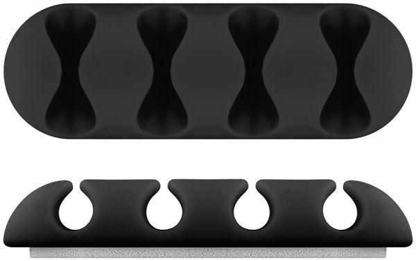 Kabel Management GOOBAY 4 Slots, schwarz, 2er-Set - Produktbild 2