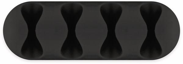 Kabel Management GOOBAY 4 Slots, schwarz, 2er-Set - Produktbild 3