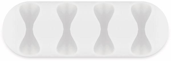 Kabel Management GOOBAY 4 Slots, weiß, 2er-Set - Produktbild 3