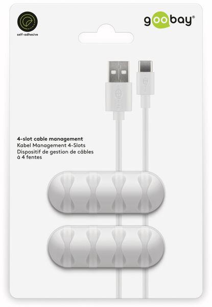 Kabel Management GOOBAY 4 Slots, weiß, 2er-Set - Produktbild 9