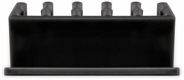Kabel Management GOOBAY 5 Slots, schwarz, 2er-Set - Produktbild 4
