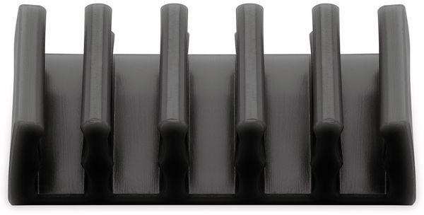 Kabel Management GOOBAY 5 Slots, schwarz, 2er-Set - Produktbild 6