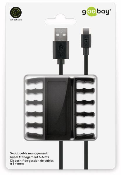 Kabel Management GOOBAY 5 Slots, schwarz, 2er-Set - Produktbild 7