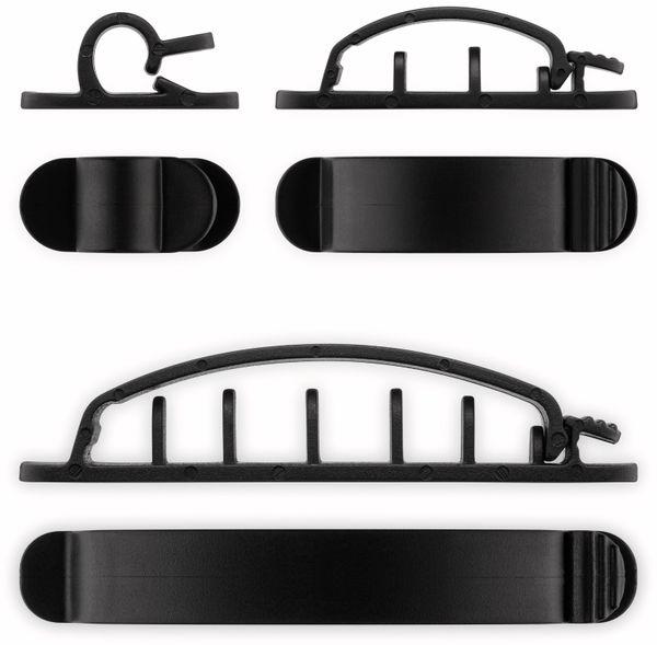 Kabel Management GOOBAY Clip Set, 6er-Set, schwarz