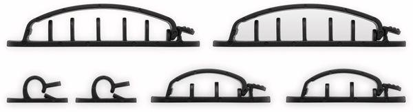 Kabel Management GOOBAY Clip Set, 6er-Set, schwarz - Produktbild 2