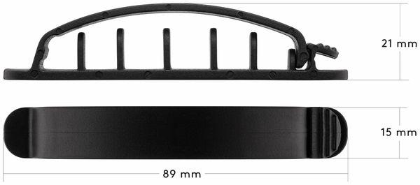 Kabel Management GOOBAY Clip Set, 6er-Set, schwarz - Produktbild 6