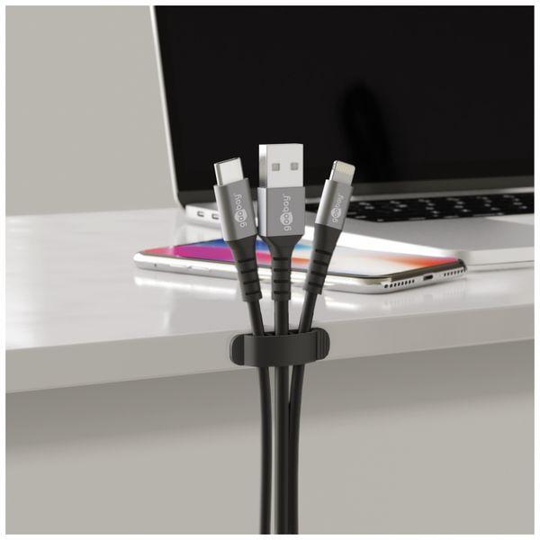 Kabel Management GOOBAY Clip Set, 6er-Set, schwarz - Produktbild 8