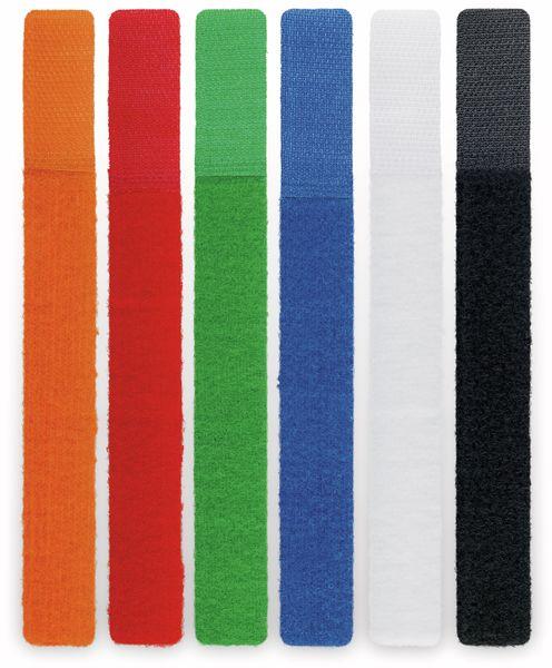 Kabel Management GOOBAY Klettverschluss, 170x20 mm, 6er-Set
