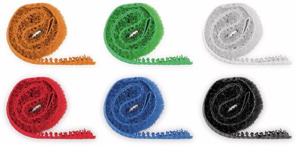 Kabel Management GOOBAY Klettverschluss, 170x20 mm, 6er-Set - Produktbild 2