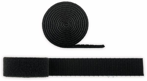 Kabel Management GOOBAY Klettverschluss, Rolle, 1 m, kürzbar, schwarz