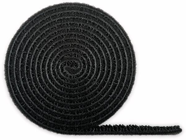 Kabel Management GOOBAY Klettverschluss, Rolle, 1 m, kürzbar, schwarz - Produktbild 2