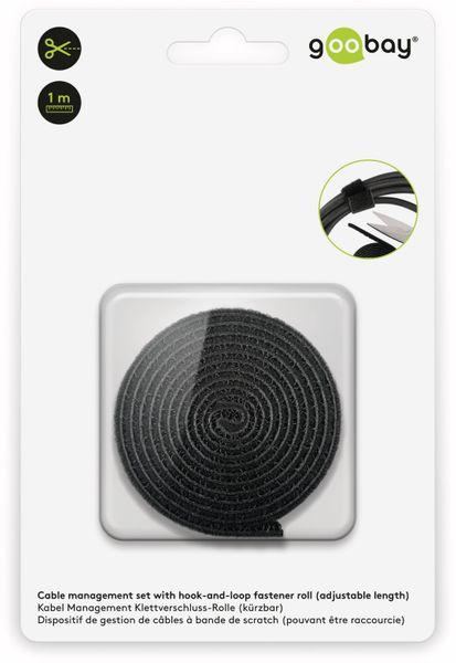 Kabel Management GOOBAY Klettverschluss, Rolle, 1 m, kürzbar, schwarz - Produktbild 5