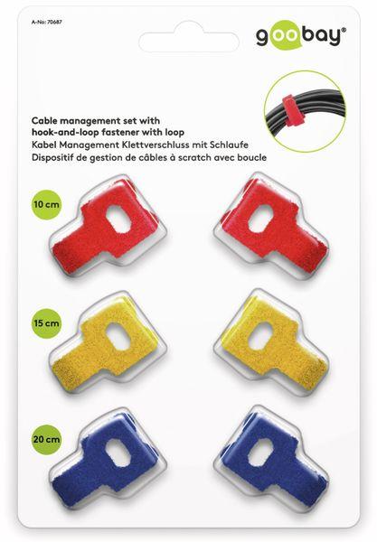 Kabel Management GOOBAY Klettverschluss, 6er-Set, mit Schlaufe - Produktbild 3