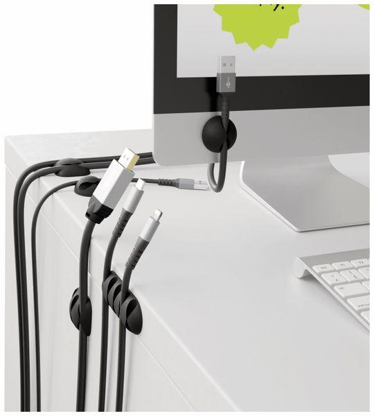 Kabel Management GOOBAY 5er-Set, schwarz - Produktbild 2