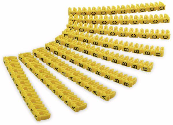 """Kabelmarker-Clips GOOBAY, """"A-C"""", für Kabeldurchmesser bis 2,5 mm, 90 St."""