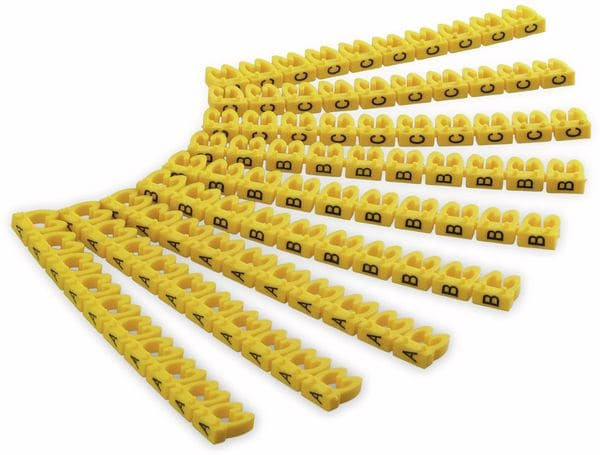 """Kabelmarker-Clips GOOBAY, """"A-C"""", für Kabeldurchmesser bis 4 mm, 90 St."""