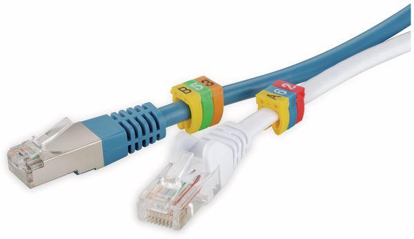 """Kabelmarker-Clips GOOBAY, """"A-C"""", für Kabeldurchmesser bis 4 mm, 90 St. - Produktbild 2"""