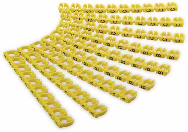 """Kabelmarker-Clips GOOBAY, """"A-C"""", für Kabeldurchmesser bis 6 mm, 90 St."""