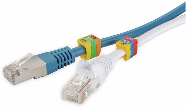 """Kabelmarker-Clips GOOBAY, """"A-C"""", für Kabeldurchmesser bis 6 mm, 90 St. - Produktbild 2"""