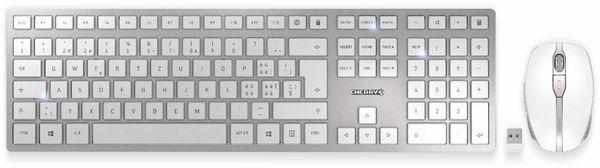 Tastatur- und Mausset CHERRY, DW 9000 SLIM, silber/weiß