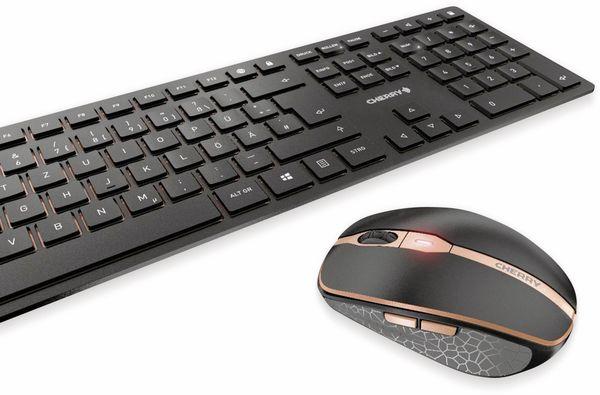 Tastatur- und Mausset CHERRY DW 9000 SLIM, schwarz - Produktbild 2