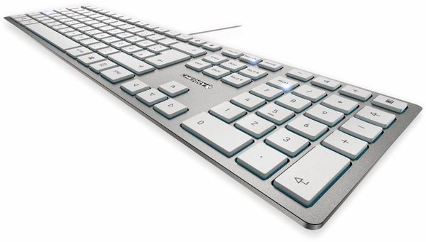 Tastatur CHERRY KC 6000 Slim, silber - Produktbild 2