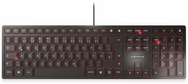 Tastatur CHERRY KC 6000 Slim, schwarz
