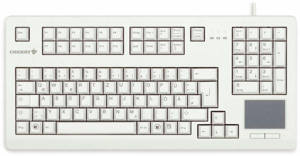 USB-Tastatur CHERRY G80-11900, mit Touchpad, grau