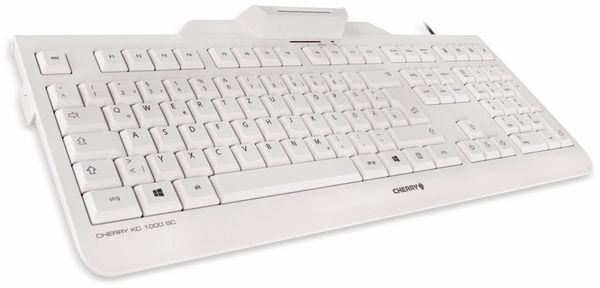USB-Tastatur CHERRY KC 1000 SC, weiß - Produktbild 2