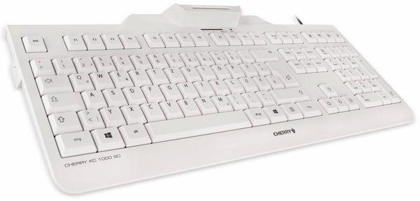 USB-Tastatur CHERRY KC 1000 SC-Z, grau - Produktbild 2