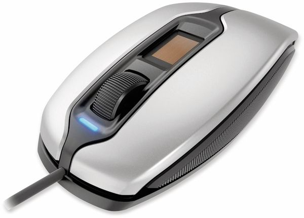 USB-Maus CHERRY MC 4900, optisch, mit Fingerprintleser, silber - Produktbild 2