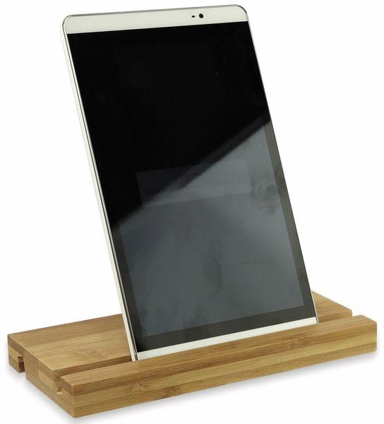 Tablet-Halterung doppelseitig aus Holz, 200x100x20 mm