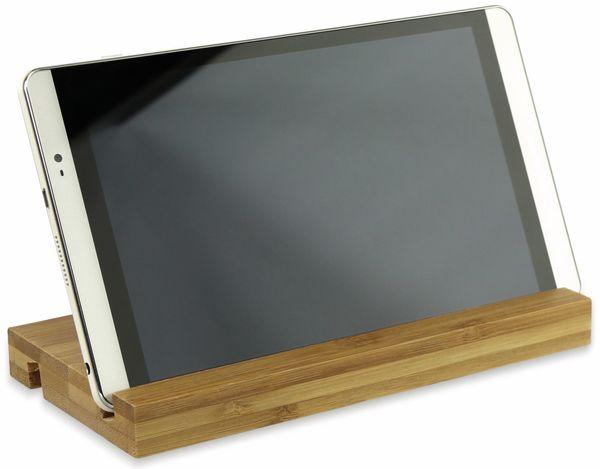 Tablet-Halterung doppelseitig aus Holz, 200x100x20 mm - Produktbild 2