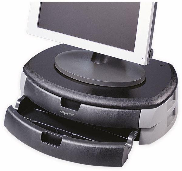 Monitorerhöhung LOGILINK BA0001, 450 mm, Schublade - Produktbild 3