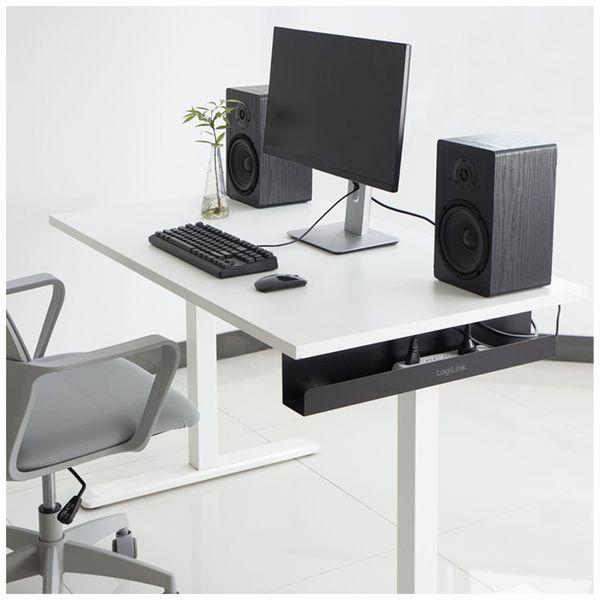 Kabelmanagementsystem LOGILINK KAB0070, Untertischmontage - Produktbild 3
